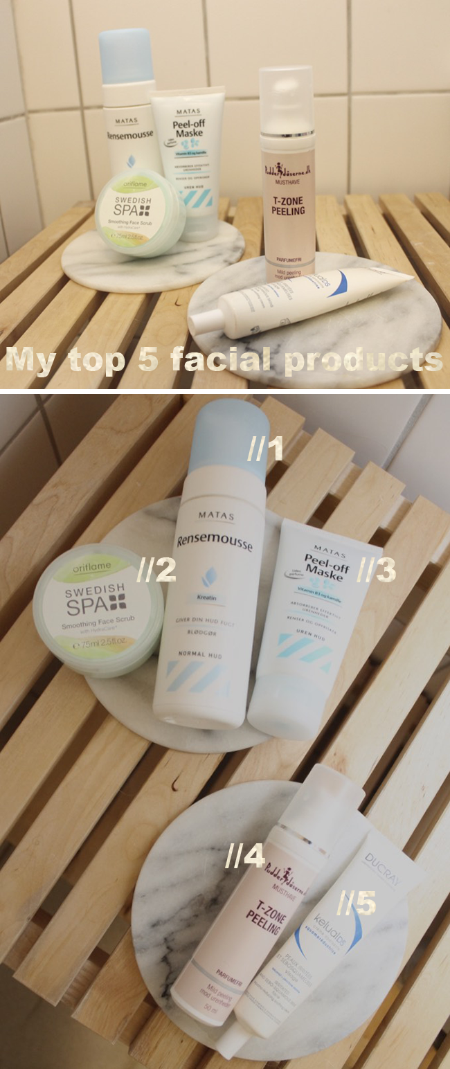 My top 5 facial products